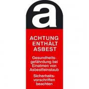 Asbest Warnschild